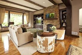 rustic living room with modern style