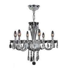 gatsby 6 light polished chrome crystal chandelier