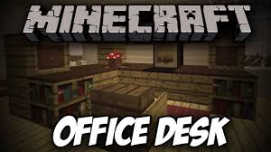 build an office. how to build an office desk in minecraft tutorials