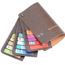 fan out credit card holder. amazon.com: teemzone men women genuine leather name credit business member card case holder fan out h