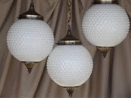 lighting globes glass. Vintage Tiered Pendant Lights Set Hobnail Glass Globes Retro Swag Lamp Style Lighting A