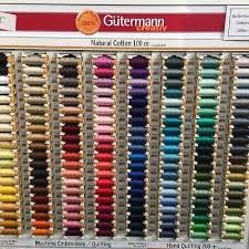 Gutermann Polyester Thread Colour Chart 100m Gutermann Natural Cotton Thread Choice Of 157 Colours