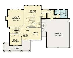 two story floor plan with great room