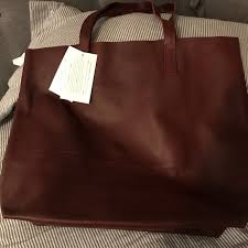 able mamuye leather tote burdy
