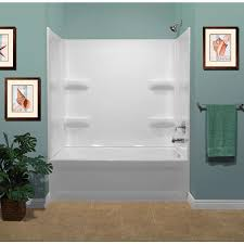style selections white acrylic bathtub wall surround common 30 in x 54