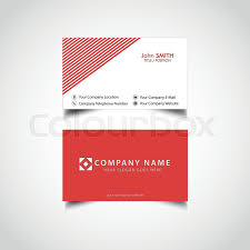 Simple Business Card Template Stock Vector Colourbox