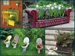 garden decorating ideas recycle old furniture you