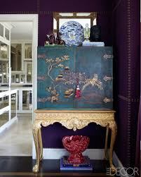 Decorations:Classic Living Room Decor Asian Inspired Designs Striped Chairs  Chinoiserie Asian Style Cabinet Purple