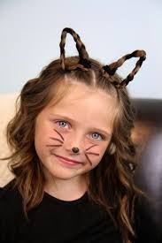 pipe cleaners braids and the simplest of makeup makes such an adorable kitty cat and for those of you who don t want to make ears like the ones shown in