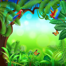 jungle background clipart. Delighful Clipart Tropical Jungle With Animals Photo Realistic Vector Background And Jungle Background Clipart L