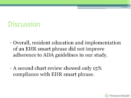 Presence Health Chart Impact Of An Ehr Smart Phrase And Resident Education On