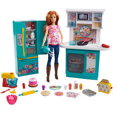 barbie pioneer woman ree drummond kitchen playset with cooking chef doll walmart