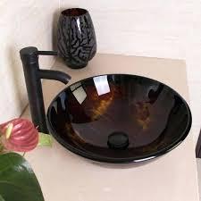 vessel sink drain modern vessel sink drain faucet glass bowl basin vanity combo round tempered vessel vessel sink drain