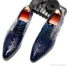 genuine cow leather brogue business wedding shoes mens casual flats shoes vintage handmade sneaker oxford for men blue 7910 dress shoes for men leather