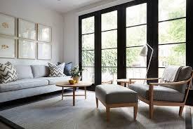 gray sofa with gray chevron pillows