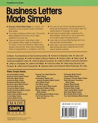 Business Letters Made Simple A Practical Up To Date Guide To