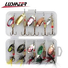 <b>10pcs</b>/<b>lot</b> LUSHAZER <b>fishing spoon</b> baits spinner <b>lure</b> 3g 7g <b>fishing</b> ...