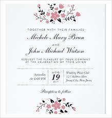 Simple Wedding Invitations Templates Free Jessicajconsulting Com