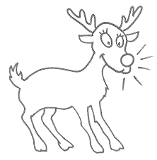 Small Picture Reindeer Template Printable Coloring Home