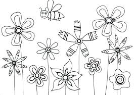 Flowers Coloring Pages For Kids Coloring Pages Of Flowers Coloring