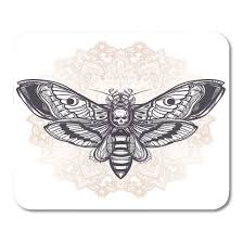 Amazoncom Boszina Mouse Pads Deaths Head Hawk Moth With Mandala