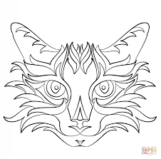 Small Picture Abstract Cat coloring page Free Printable Coloring Pages