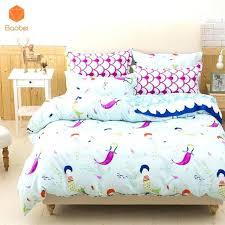 toddler queen bedding little mermaid toddler comforter set bedding soft new style sets pillowcase printed polyester