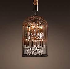 vintage birdcage chandelier small