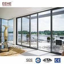 china modern design soundproof aluminum sliding door with double glass china aluminium door glass door