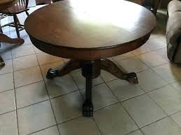 round clawfoot table oak table for antique round oval oak wood claw foot table dining