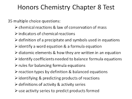 chemistry chapter 8 chemical equations ppt