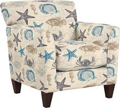 beach coastal furniture. modren beach upholstered beach fabric accent chairs and ottomans by lazboy in coastal furniture