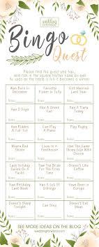 Wedding Bingo Words Best 5 Bridal Shower Bingo Ideas Wedding Forward
