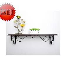 rod iron wall shelves