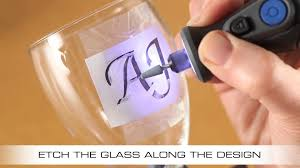 How To Etch Glass How To Etch A Wine Glass With The Dremel Micro Youtube