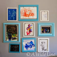 DIY wall display for kiddo art projects: #IPinnedItThenIDidIt