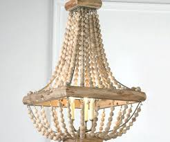 pottery barn wood bead chandelier image of new diy wooden chandelier pottery barn elena wood bead