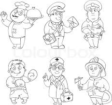 Attractive Ideas Occupations Coloring Pages Printable Jobs ...