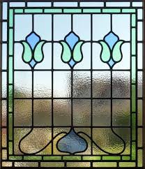 victorian edwardian stained glass panel