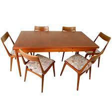 danish modern dining room table with chairs scandinavian teak