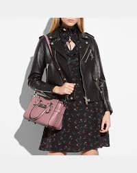 pink coach swagger 27 in pebble leather women s dark metal dusty rose
