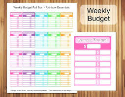 15 Weekly Budget Template Statement Letter