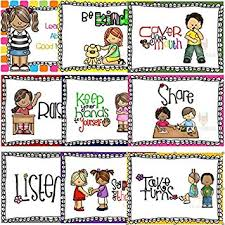 Preschool Class Rules Chart Educational Preschool Posters Learning Poster Childrens Wall