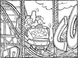 Rollercoaster Op De Kermis Kiddicolour