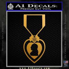 purple heart decal sticker military metallic gold vinyl