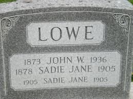 Sadie Jane Pickel Lowe (1878-1905) - Find A Grave Memorial