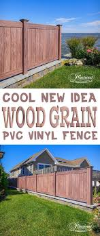 Exellent Vinyl Privacy Fence Ideas Gorgeous Illusions Walnut Pvc With Decorating