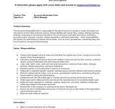 Fantastic Accounts Payable Responsibilities Resume Pictures