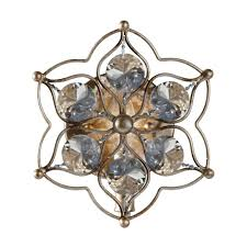 1 light mini chandelier in a burnished silver finish