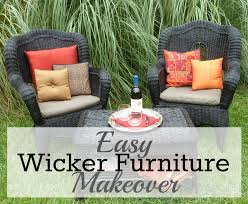 easy wicker furniture makeover from trash to treasure furniture redo mybigfathappylife com